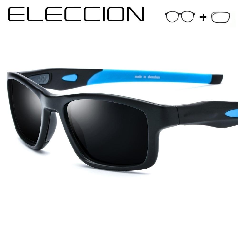 ELECCION Myopia Polarized Sunglasses Men 2019 Sporty Style Square Full Frame Optical Male Prescription Sun Glasses With Diopter
