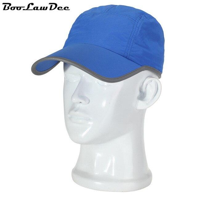 BooLawDee Корейский козырек бейсболки путешествия дышащий защиты шляпа солнца регулируемая оптовая принято синий серый хаки 4F107