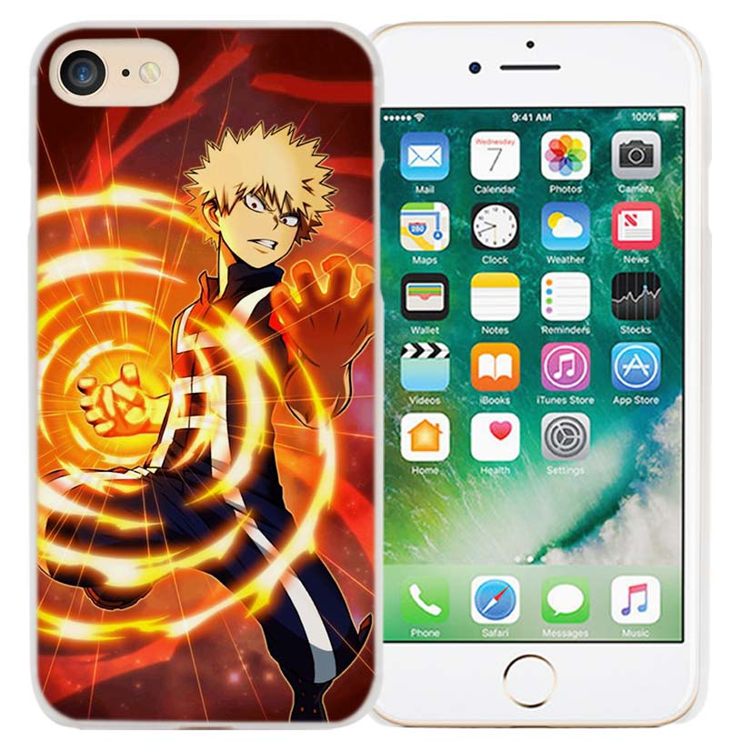 BiNFUL My Hero Academia Anime Hard Clear Case Cover Coque for iPhone X 6 6s 7
