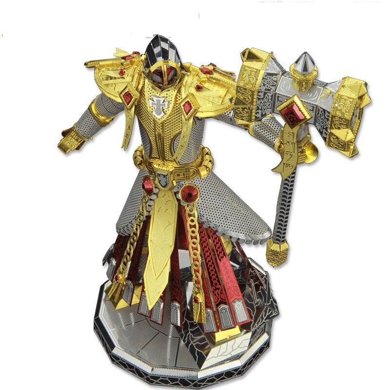 Kingdom of fight soldier models 3D Metal Nano Puzzle Gold Judge model Kits DIY 3D Laser