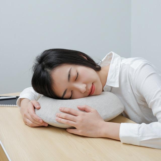 Original Xiaomi Mijia 8H U Shape Memory Foam Neck Pillow Antibacterial Portable Travel 8H Eyes Mask Cushion Lunch Break Pillows  4