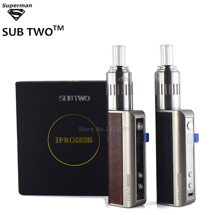 SUB TWO Electronic cigarette IPRO DR60 TC 60W with 22mm dry herb atomizer Vaporizer kit herbal Vaporizer vape pen mods sub two electronic cigarette taifun gt ii atomizer for e cigarette mod stainless steel rba update taifun gt clearomizer