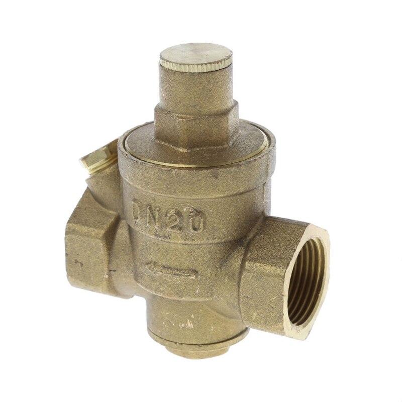 """DN20 1/2 """"Регулируемый латунный снижение давления воды клапан регулятора PN внутренней катушкой, 1,6"""