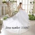 Strapless Branco Vestido de Noiva Train Strapless Lace Sexy Vestidos De Novia vestidos de Casamento Vestidos de Noiva Vestidos de Casamento 2016 Design HS585
