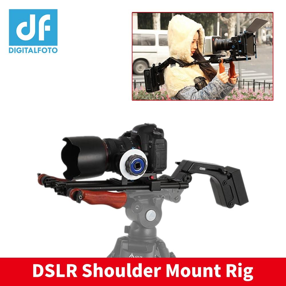 DF DIGITALFOTO Professional shoulder mount Dslr rig set movie kit film making Video camera cage steadicam stabilizer steadycam