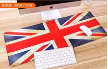 UK Flag lockedge 800x300MM Rubber Ultra large Gaming Durable Mouse Pad Mat Comfort Mice Pads For Computer Notebook Laptop