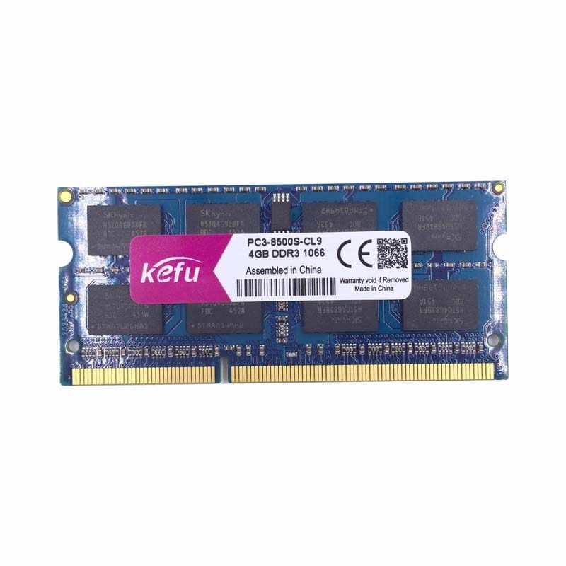 Kefuメモリram ddr3 4ギガバイト2ギガバイト8ギガバイト1066 mhz pc3-8500 sodimmノートパソコン、ddr3 ram 4ギガバイト2ギガバイト1066 mhz pc3 8500ノートブック、ddr 3 ddr3 4ギガバイト1066