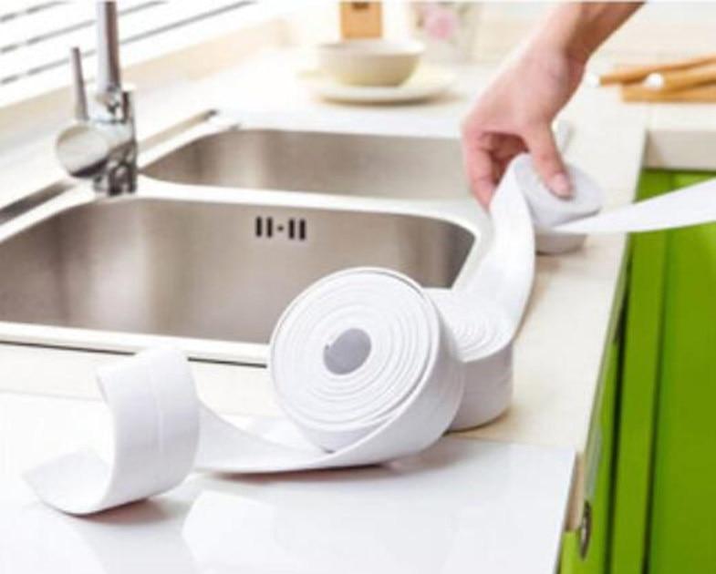 1 Roll PVC Bath Wall Sealing Strip Waterproof Self Adhesive tape ...