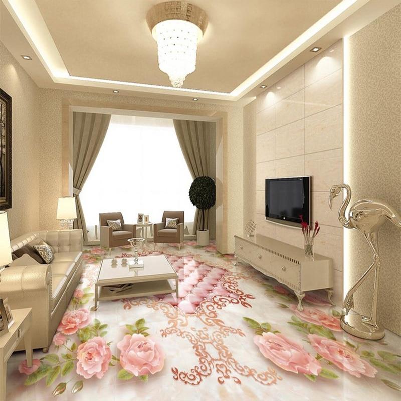Europäischen Stil Rose Softpack Marmorboden Fliesen Malerei