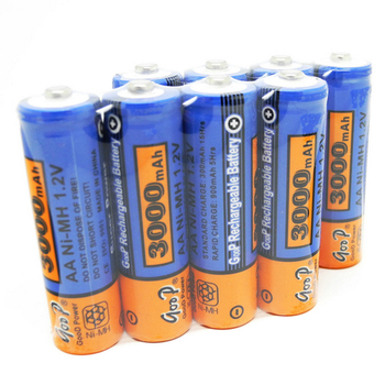 WholeSale 100pcs/lot Brand New AA 14500 Battery Cell 3000mah NIMH Rechargeable AA NI-MH 14500Battery Recargables For Flashlight