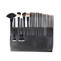 22PCS Professional Wooden Handle Wool Hair Makeup Brush Compact Size Foundation Blusher Powder Eyebrow Cosmetic Brush Tools