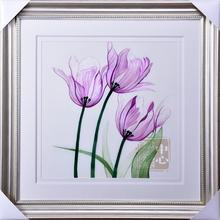 Suzhou embroidery  1-4 silk fine pure hand made decoration painting tulips