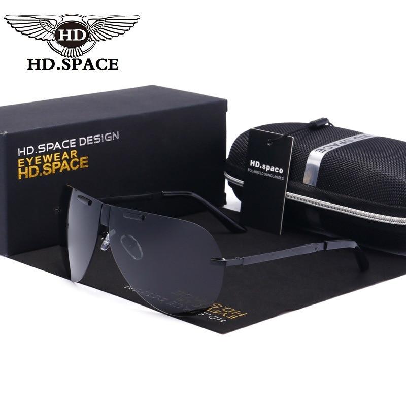 HD De Grado Superior gafas Rana espejo polarizado gafas Hipster plegable Oculo De Sol De montura gafas De conducir para la policía piloto LD107