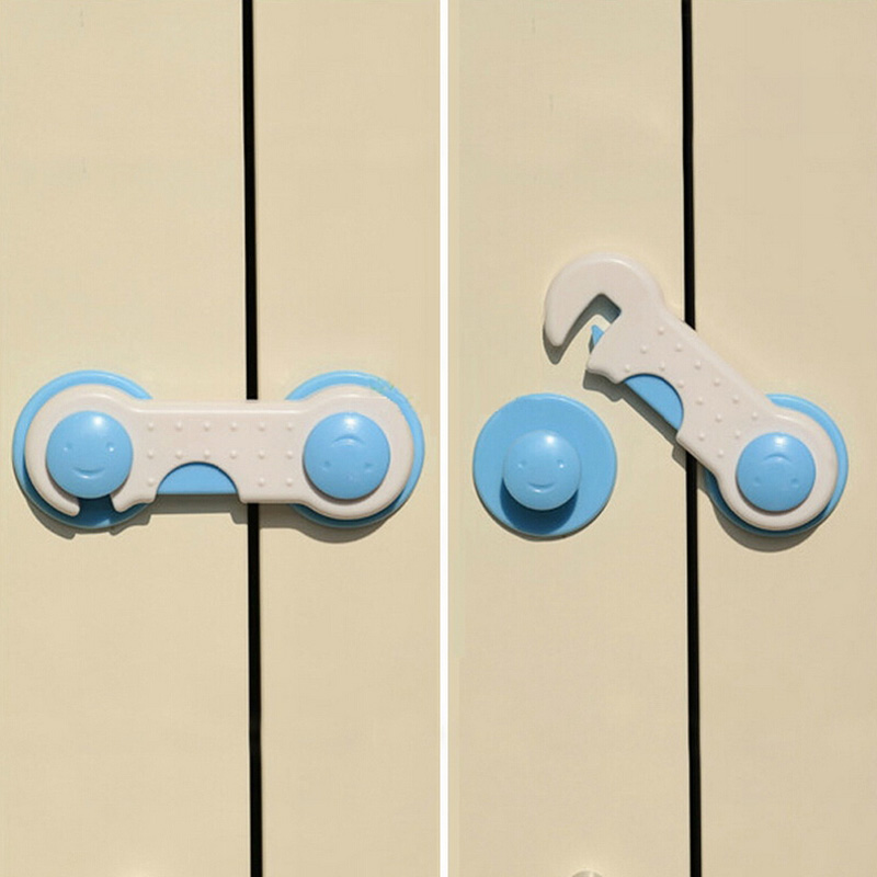 10PCS Baby Safety Refrigerator Drawer Cupboard Cabinet Wardrobe Door Fridge Safety Lock safety 10 pcs cabinet drawer cupboard refrigerator toilet door closet plastic lock baby safety lockcare child safety atrq0140 page 4