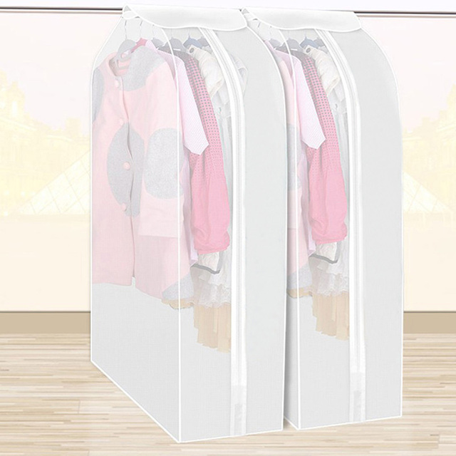 High Capacity Clothes Hanging Organizer Storage Closet Dust Cover Garment  Suit Coat Dust Cover Protector Wardrobe