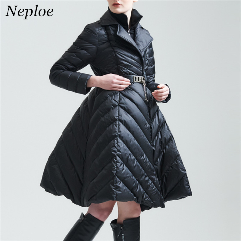 Neploe Europe America Skirt Down C 2018 Winter New Fake Two Pieces Fashion Brand Energy Field Down Jacket Tide Parkas 65996