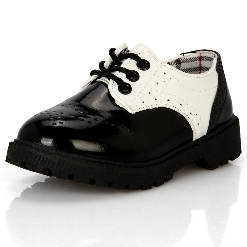 Kids Wedding Shoes Patent Leather For Boy Baby Booties Crochet Pattern Free Boys Loafers School In From