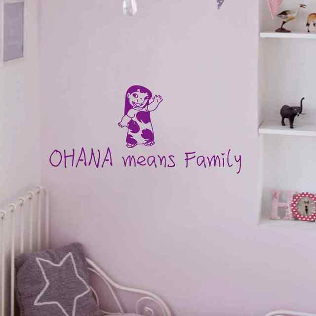 Vinyl Wall Word Sticker - Ohana Means Family - Baby Nursery Kids Room Wall Decal Quote & Vinyl Wall Word Sticker Ohana Means Family Baby Nursery Kids Room ...