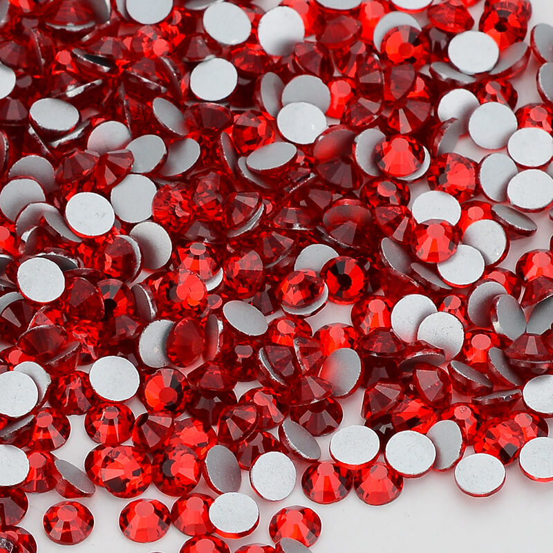 DingSheng Red/Siam FlatBack Glass Rhinestones Non-HotFix for Nail Art Decorations