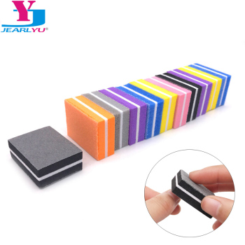 20pcs/Lot Mini Sponge Nail File Colorful Sanding Buffer UV Gel Polish Manicure Set Block Nail Files Double Side Nagel Vijl Tools