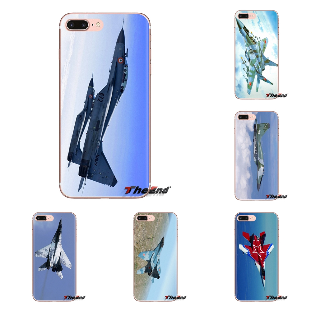 For Samsung Galaxy S3 S4 S5 Mini S6 S7 Edge S8 S9 S10 Plus Note 3 4 5 8 9 Mig 29 Fighter Aircraft Wallpaper Silicone Phone Cover Fitted Cases Aliexpress