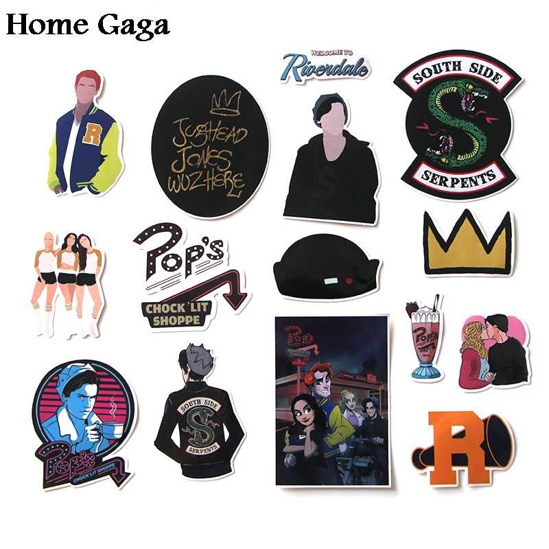 24set/lot Homegaga 15pcs/set riverdale Stickers for Laptop Skateboard Home Car Styling Vinyl Decals Doodle Cool DIY works D0912