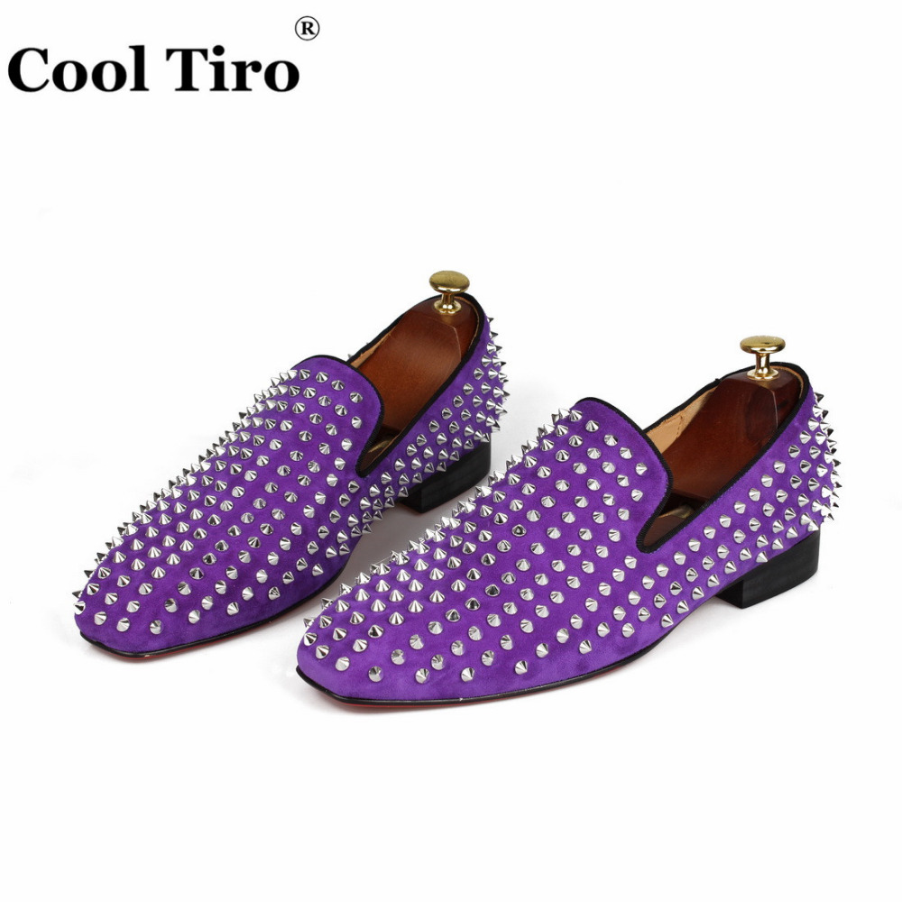 spikes Loafers purple suede  (4)