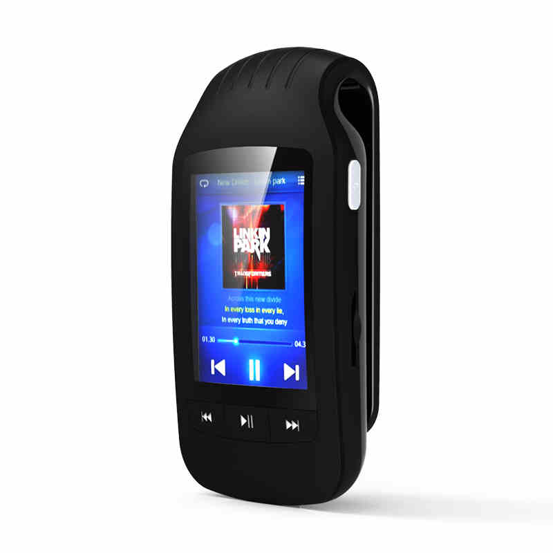 цена на Mini Clip Sport Bluetooth mp3 player 8GB HOTT MU1037 Pedometer FM Radio Support TF Card Slot Stereo Music Player 1.8 LCD Screen