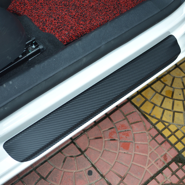For Ford Focus 2 MK2 Door Sill Scuff Welcome Pedal Threshold Carbon Fiber Stickers Full Protect Welcome Pedals Car Covers 4pcs