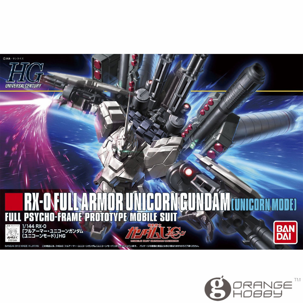 OHS Bandai HGUC 156 1/144 RX-0 Full Armor Unicorn Gundam Unicorn Mode Mobile Suit Assembly Model Kits ohs bandai mg 155 1 100 rx 0 unicorn gundam 02 banshee mobile suit assembly model kits oh