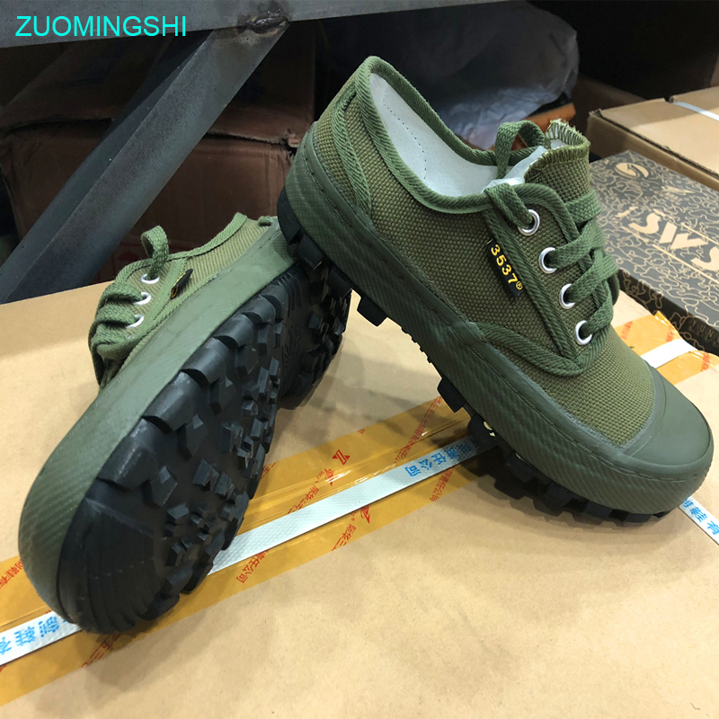 New Anti-skid Men Rubber Green Leisure Shoes, Canvas Casual Shoes, Rubber Soles Walking Shoe Suitable  Cross-country, Tourism,