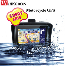 Motorcycle car gps navigation 4 3 Touch screen IPX65 Waterproof GPS FM Bluetooth Built in 8GB