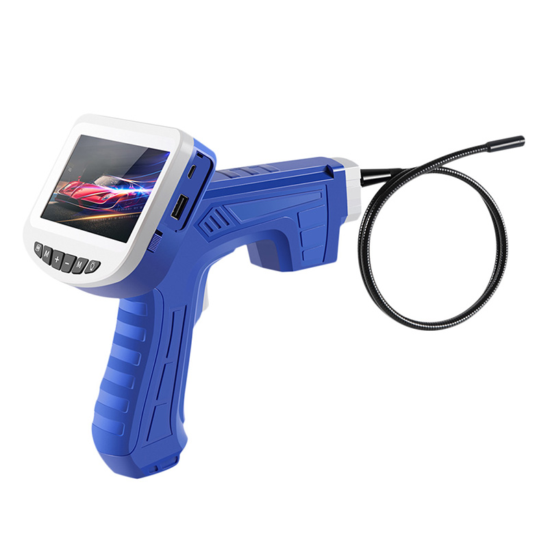 1080P Industrial Endoscope Inspection Camera Portable Hard Cable Handheld Wifi Borescope Videoscope with 4 3 inch