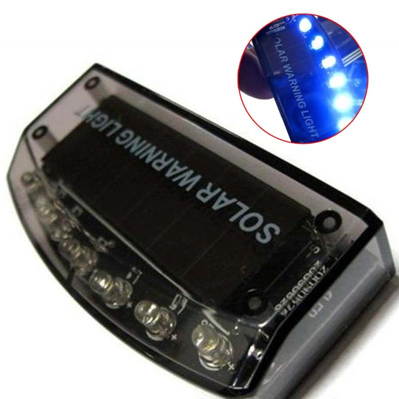 6LED Auto Solar Charger Car Burglar Alarm font b Lamp b font Sensor Security Warning Light