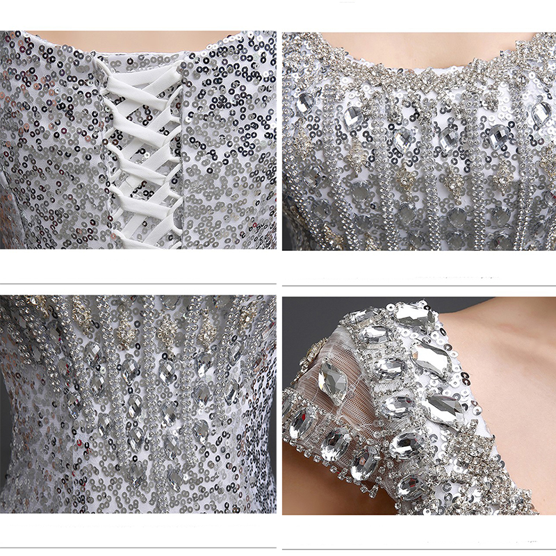 2019 Duga sirena Večernje haljine Formalne Prom haljina Sequins - Haljina za posebne prigode - Foto 6