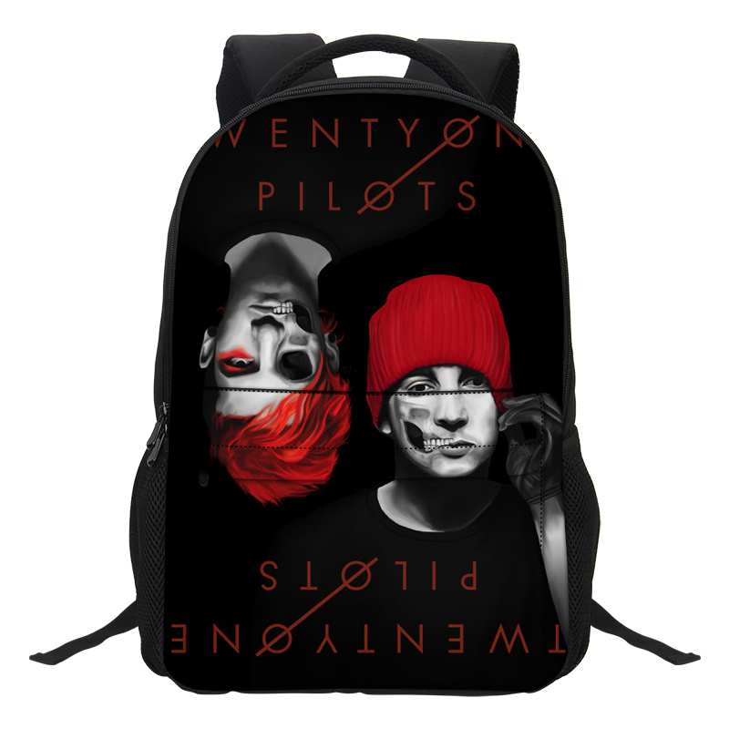 2019 Veevanv Boys Cartoon Backpacks Fashion Men Laptop Shoulder Bags Twenty One Pilots Printing School Bookbag Teenagers Mochila