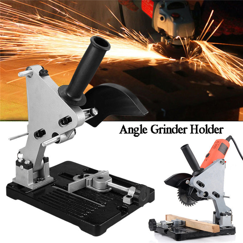 Angle Grinder Holder Electric Woodworking Tool Wood Milling Stand Wood Cutting Machine Accessories Power Tools Bulgarian hoomall electric drill cutting seat stand machine bracket tools set fit for angle grinder accessories polishing cutting 10 13mm
