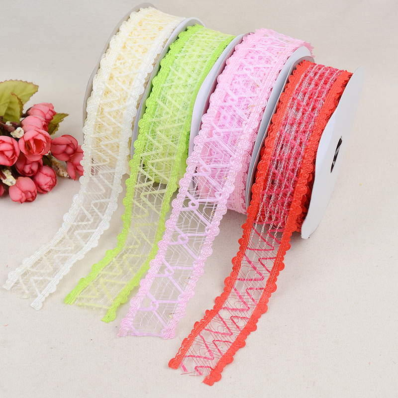 New Lace Hollow Ribbon 3.8cm * 20 Yards DIY Bow Clothing Crafts Shoes Accessories Decoration Wedding Embossed Belt