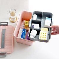 Portable medicine chest family small medicine box household multistorey storage box