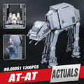 LEPIN 05051 1157 Unids New Star Wars The Force Despierta AT-AT Modelo Kit de Construcción de Bloques de Ladrillos Educativos Juguetes Compatibles 75054