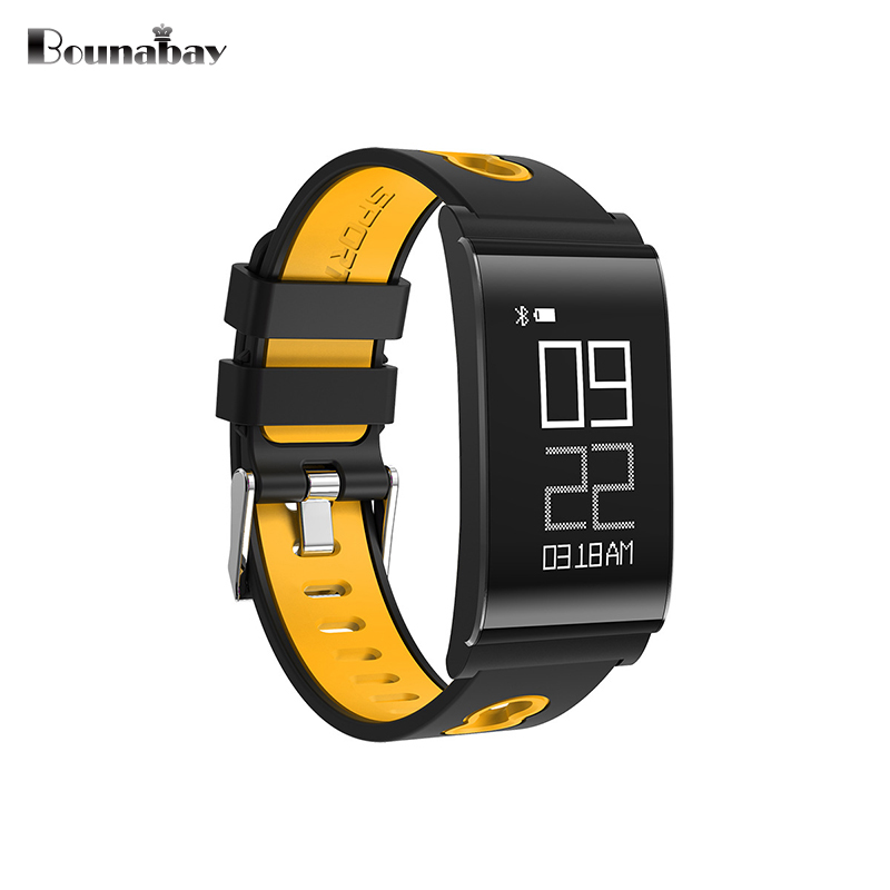 BOUNABAY Bluetooth sports Bracelet women watch original ladies waterproof for apple ios Android phone woman colck lady watches bounabay heart rate monitor smart bracelet watch women bluetooth for apple android ios phone woman touch clock ladies watches