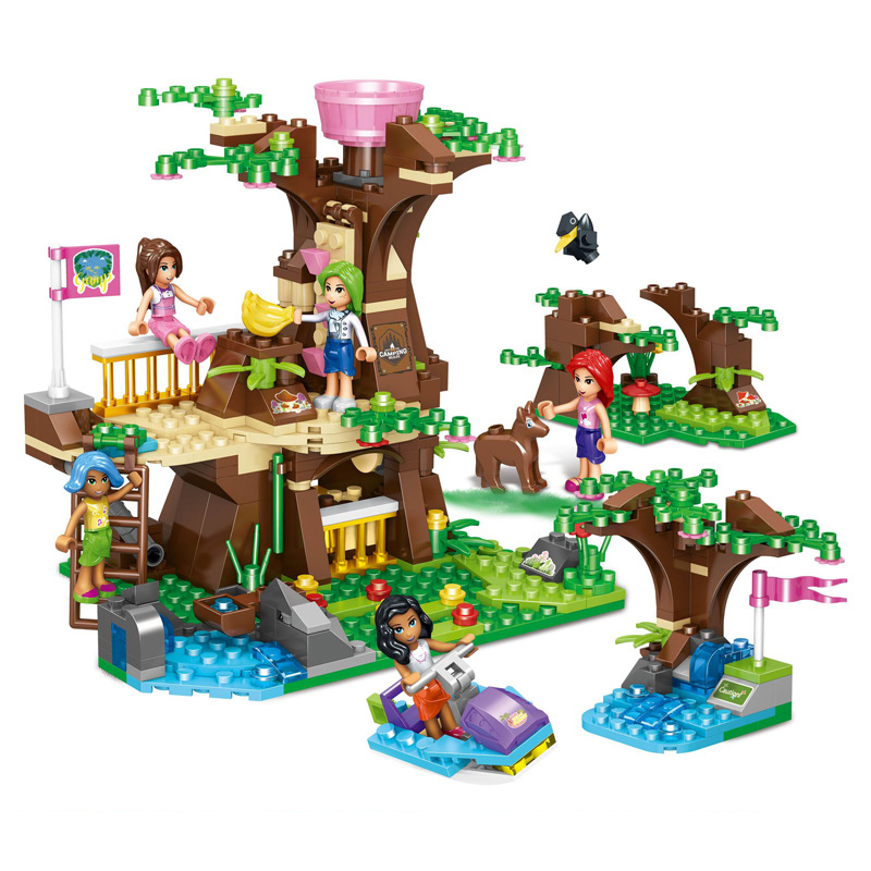 Enthusiastic 490pcs Childrens Educational Building Blocks Toy Compatible Legoings Friends City Girls Deep Forest Tree House On The Island Moderate Price Toys & Hobbies