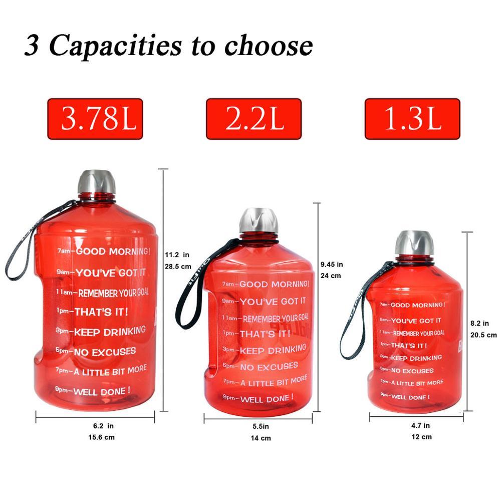 Image 3 - Quifit 128oz 73oz 43oz 1 Gallon BPA Free Plastic Big Drink Water Bottle Jug Gourd For Travel Sports Fitness GYM Waterbottle EcoWater Bottles   -