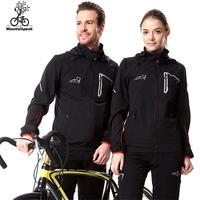 Mens Hiking Softshell Set Womens Jacket Pants 1 Set Hooded Cycling Windbreaker UV Protect Jacket Set Size S 3XL MP017