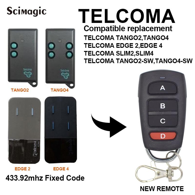 TELCOMA EDGE 2 / EDGE 4 Garage Door Gate Remote Controller 433.92 MHz Transmitter
