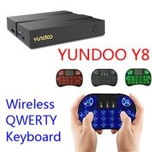YUNDOO Y8 Smart TV Box Android 6.0 Media Player BRAS Mali-T860MP4 Max 4G/32G 4 K RK3399 Sortie Wifi Set Top Box TV Cortex-A72