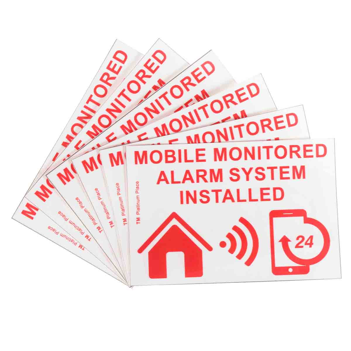 Safurance 6xMobile Monitored Alarm System Installed Warning Sign External Sticker 130x87mm Home Security Safety цена и фото