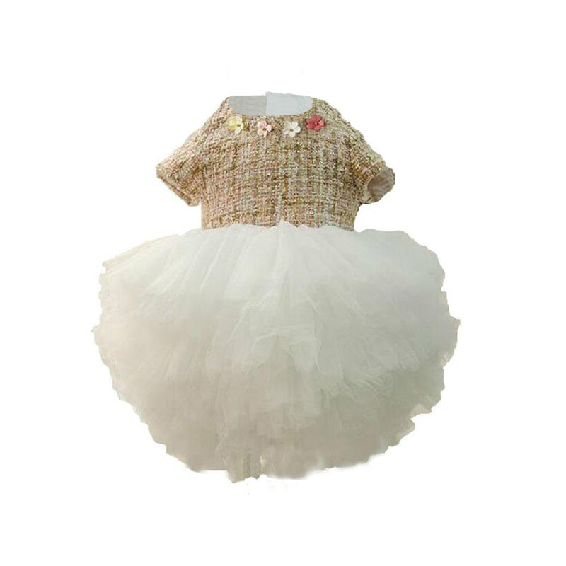 2018 New Summer High Quality Baby Girl Christening Gown Lace Dresses Newborn Halter Birthday Clothes 1-7years Bebe Clothes CC623