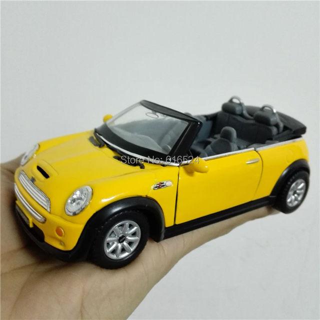 5'' DieCast Metal Pull Back Mini Cooper S Convertible Children Education 1:28 Alloy Kinsmart Diecast model toy cars Kids Gift