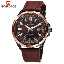 2016 New Fashion Men Military Sports Watches Men's Quartz Auto Date Clock Top Brand Luxury Man Leather Strap Casual Wrist Watch